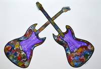 Original Guitars abstract painting wall decor pop