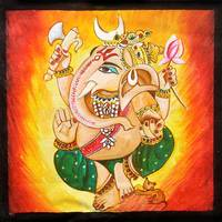 Lord Ganesha- Original Acrylic Painting