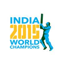India Cricket 2015 World Champions Isolated