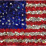 """American Flag Mosaic"" by bloomingvinedesign"