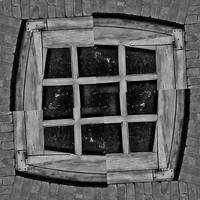 Rustic Window Black and White