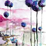 """Land of the Giant Allium 4"" by GinetteCallaway"