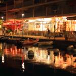 """Marigot Marina Boardwalk at Night"" by RoupenBaker"