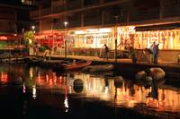 Marigot Marina Boardwalk at Night