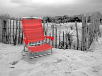 The Red Beach Chair