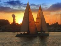 R-1037 Red Sails in the Marina Del Rey Sunset - 24