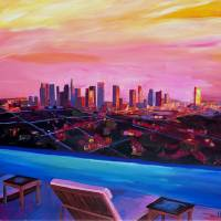 Los Angeles Infinity Skyline with Infinite View Art Prints & Posters by M Bleichner
