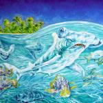 """""""The Hammerhead shark (oil)"""" by Liliya_Chernaya"""