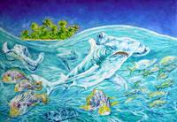 The Hammerhead shark (oil)