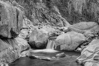 Rocky Mountain Stream Black White