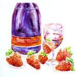 """Wine and strawberries"" by Liliya_Chernaya"