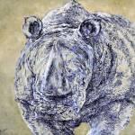 """""""Rhino (grey)"""" by Liliya_Chernaya"""