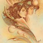 """""THE GEMINI"" - Protective Angel for Zodiac Sign"" by Hannahart"