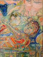 Laura Davis_Turning Muse_Oil on canvas_30x40