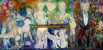 Laura Davis_Triptych, Francis Bacon_72x168_Oil on