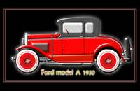 Ford model A in red