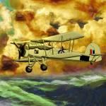 British WWII Swordfish Biplane