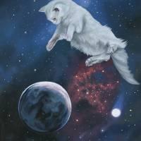 Space Kitty II Art Prints & Posters by Susan Van Sant