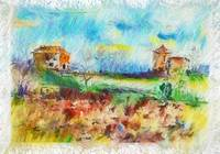 Country Side Spain Mixed Media