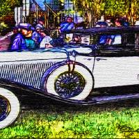 Old-White-Car-Justin Beck-picture-2015104 Art Prints & Posters by Justin Beck