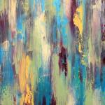"""Palette Knife In Purple Blue And Yellow"" by LizMoran"