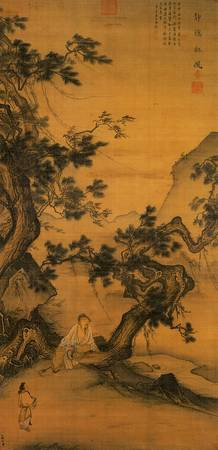 A wall scroll painted by Ma Lin on or before 1246.