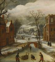 DUTCH SCHOOL, 17TH CENTURY, WINTER LANDSCAPE WITH