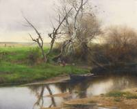 EMILIO SANCHEZ-PERRIER, A QUIET STRETCH OF RIVER