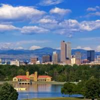 Denver Morning Skyline Art Prints & Posters by Santomarco Photography