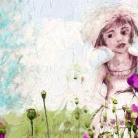 Leora in Her Garden Art Prints & Posters by Ginette Callaway