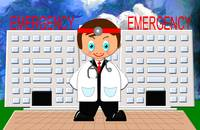 Toon Boy Emergency Doctor at the Hospital