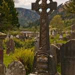"""Cross Monument in the Glendalough Valley"" by MichaelStephenWills"
