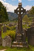 Celtic Cross Monument in the Glendalough Valley
