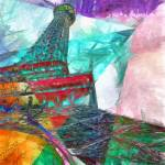 """Eiffel Tower Abstract"" by fielding"