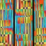 """Abstract Square Trio"" by fielding"