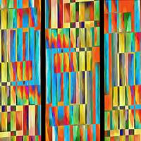 Abstract Square Trio