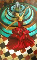 Dancing Doll- Original acrylic Painting