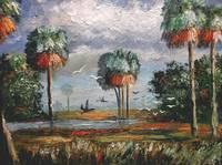Cabbage Palm Trees and Birds