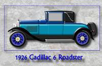1926 Cadillac 6 Roadster