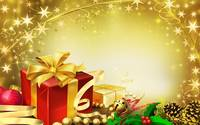 Christmas Present Gold Background