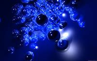 Blue Marbles Abstract