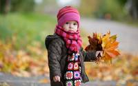 Bundled Autumn Girl