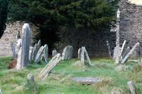 Glendalough Ireland-An Old Irish Grave yard