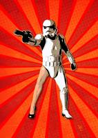 Stormtrooper - Sexy Leg - Star Wars - Pop Art