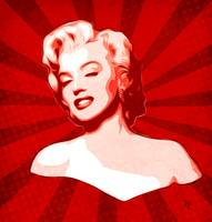 Marilyn Monroe - Red - Pop Art