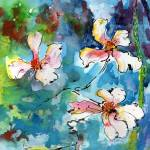 """Dogwood Blossoms Watercolor"" by GinetteCallaway"