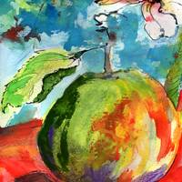 Apple Watercolor by Ginette