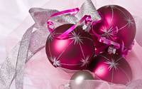 Purple And Silver Christmas Ornaments