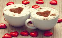Cup Of Cappuccino Chocolate Hearts Coffee
