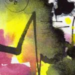 """""""Intuitive Abstract Yellow Pink Black"""" by GinetteCallaway"""